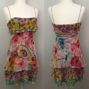 Diane Von Furstenberg Holliann Silk Mini Dress GUC
